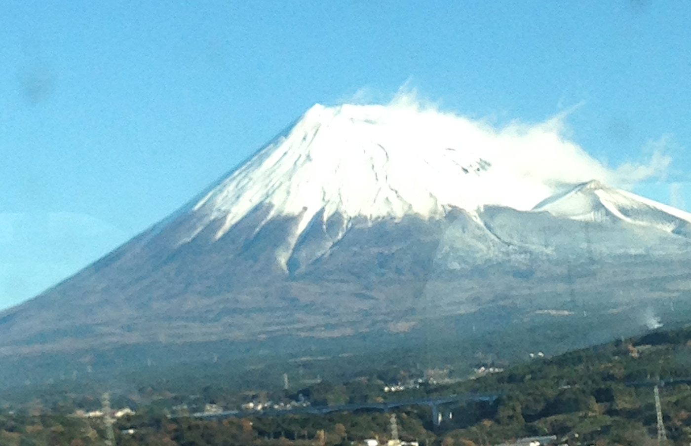 Mt. Fuji from the Tokaido Shinkansen