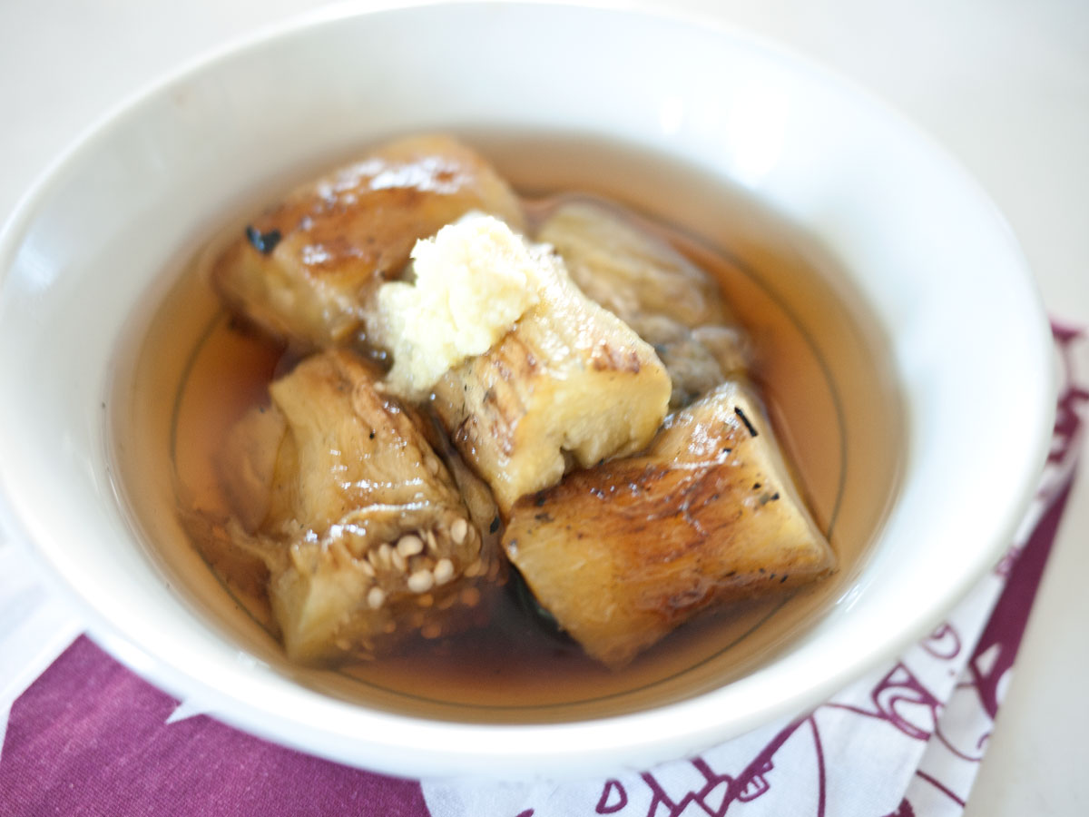 IMG: Chilled grilled eggplant soup