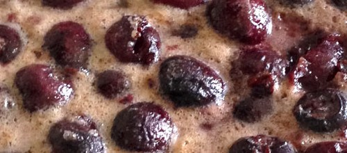 IMG: Cherry clafoutis with beurre noisette