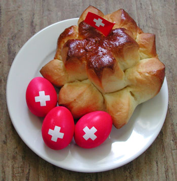1. August bread and decorated eggs
