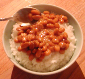 natto on rice