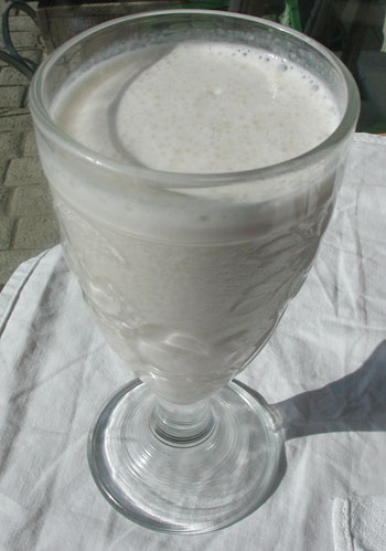 a glass of soy milk