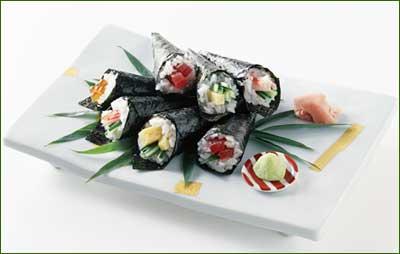 handrolled sushi